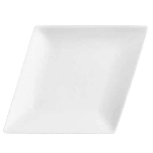 "CAC China DM-12 Diamond Narrow Rim Platter, 9 3/4"" x 7 1/2"""