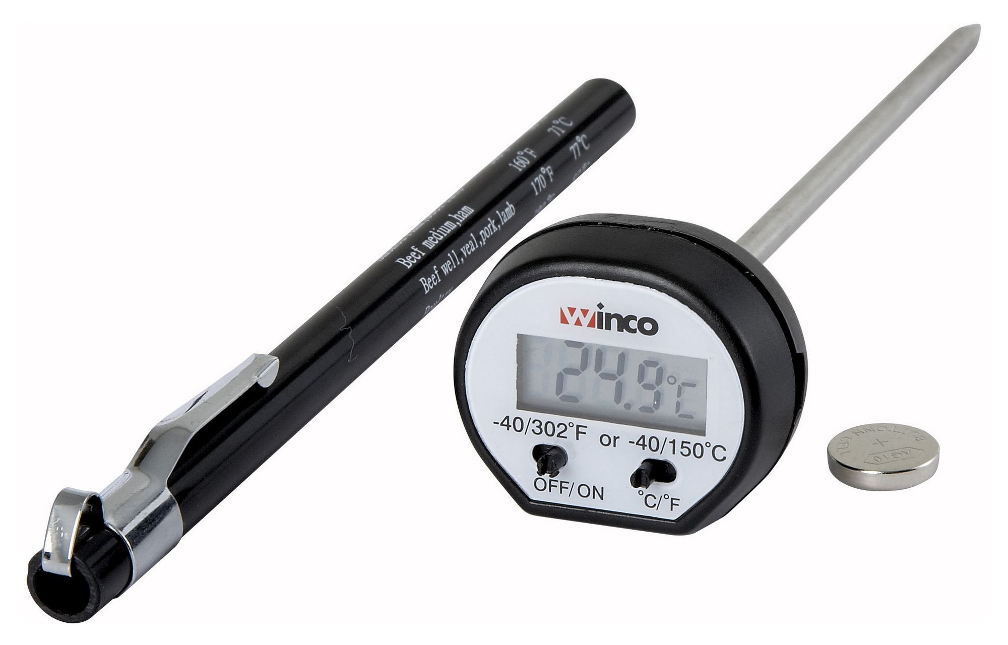 Digital Pocket Thermometer With Case
