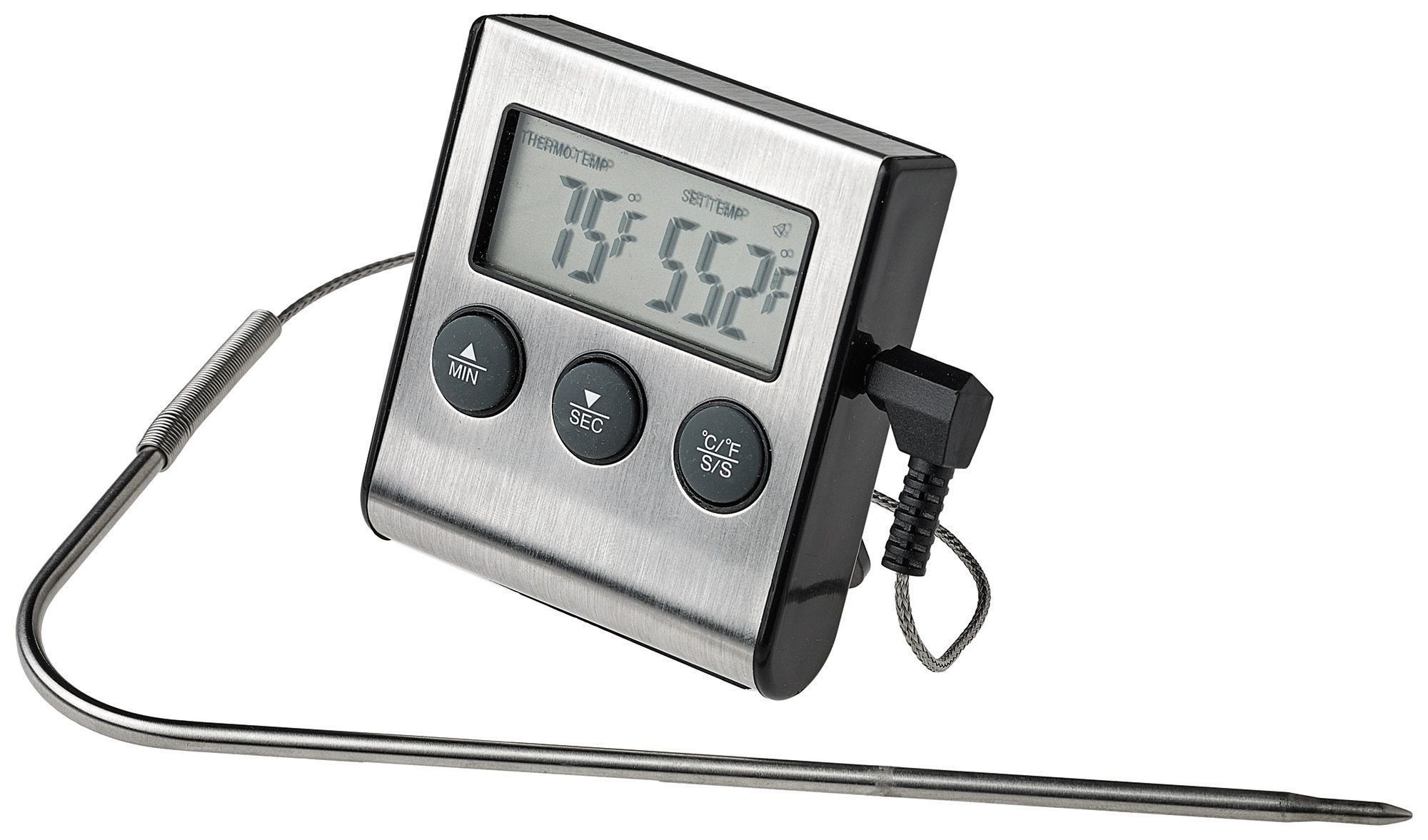 Winco TMT-DG6 Digital Roasting Thermometer with Timer and Probe