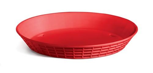 TableCraft 137512R Red Plastic Diner Platter, 12""