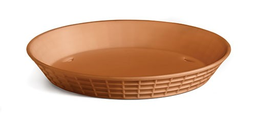 TableCraft 137512TC Terra Cotta Plastic Diner Platter, 12""