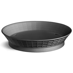 Round Plastic Diner Platter with Base, 10-1/2""