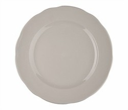 Dinner Plate - American Ivory, Scalloped-Edge China (10.75