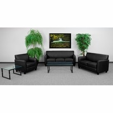 Flash Furniture BT-827-SET-BK-GG Diplomat Series Reception Set in Black