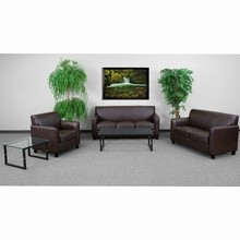 Flash Furniture BT-827-SET-BN-GG Diplomat Series Reception Set in Brown
