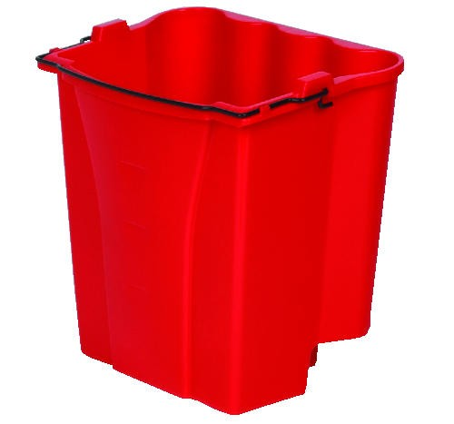 Dirty Water Bucket for Wavebrake Bucket/Wringer, 18-Quart, Red