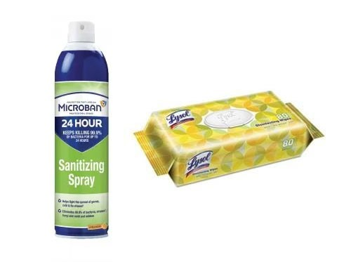 Disinfectant Spray and Wipes Set