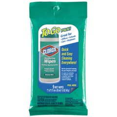 Disinfecting Wipes To Go, Fresh Scent, 7 x 8, 9/Pack