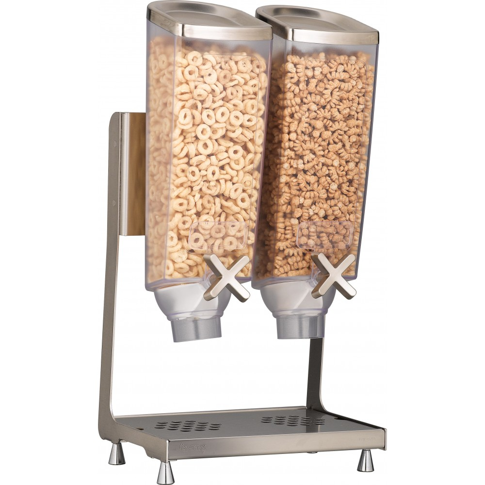 Rosseto EZP2746 EZ-PRO™ Double-Container Table Top Dispenser With Stainless Steel Stand (1 Gallon Each)