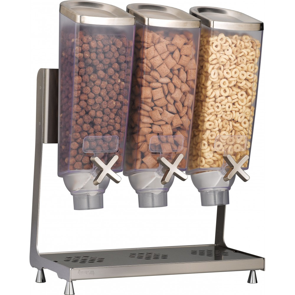 Rosseto EZP2135 EZ-PRO™ Triple-Container Table Top Dispenser With Stainless Steel Stand (1 Gallon Each)