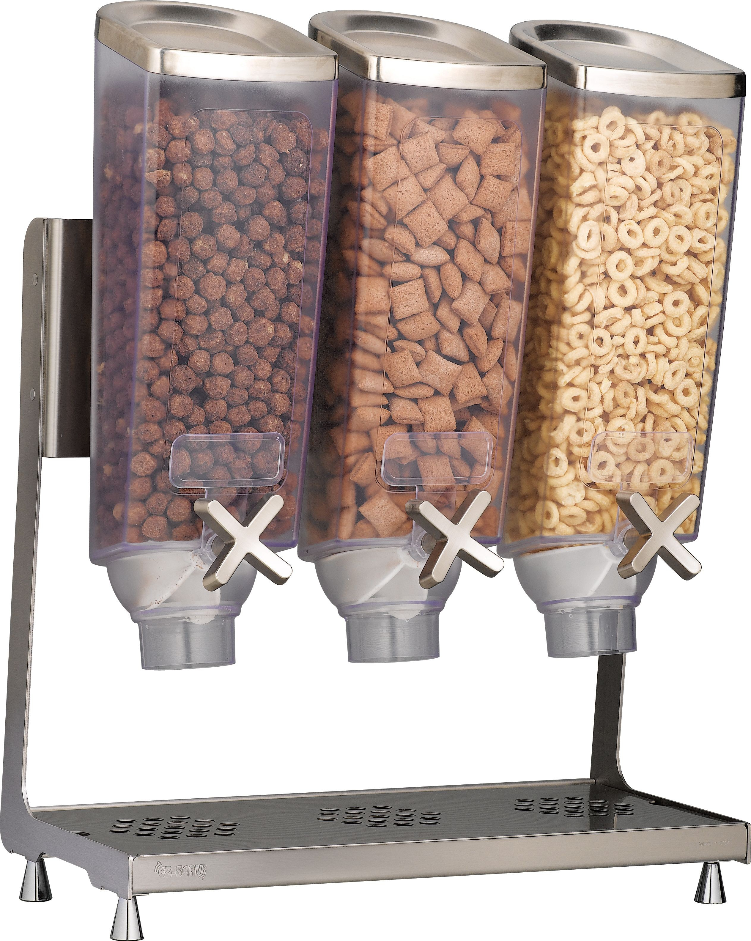 Triple 1  Dispensers & Stainless Tray - 16