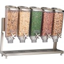 Rosseto EZP2883 EZ-PRO™ Five-Container Table Top Dispenser With Stainless Steel Stand  (1 Gallon Each)