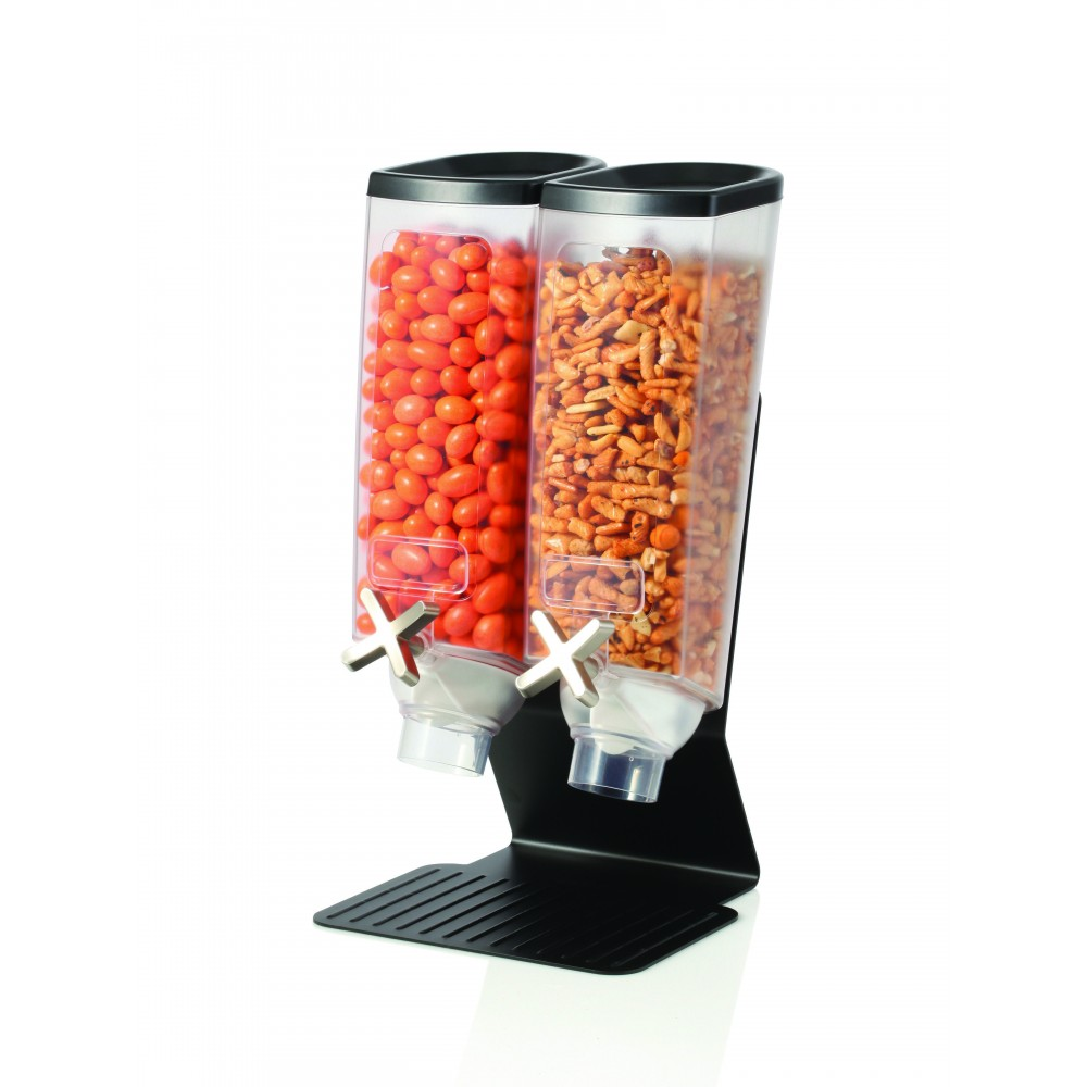 Double1  Dispensers & Stand with Black Powder Coated Steel Finish