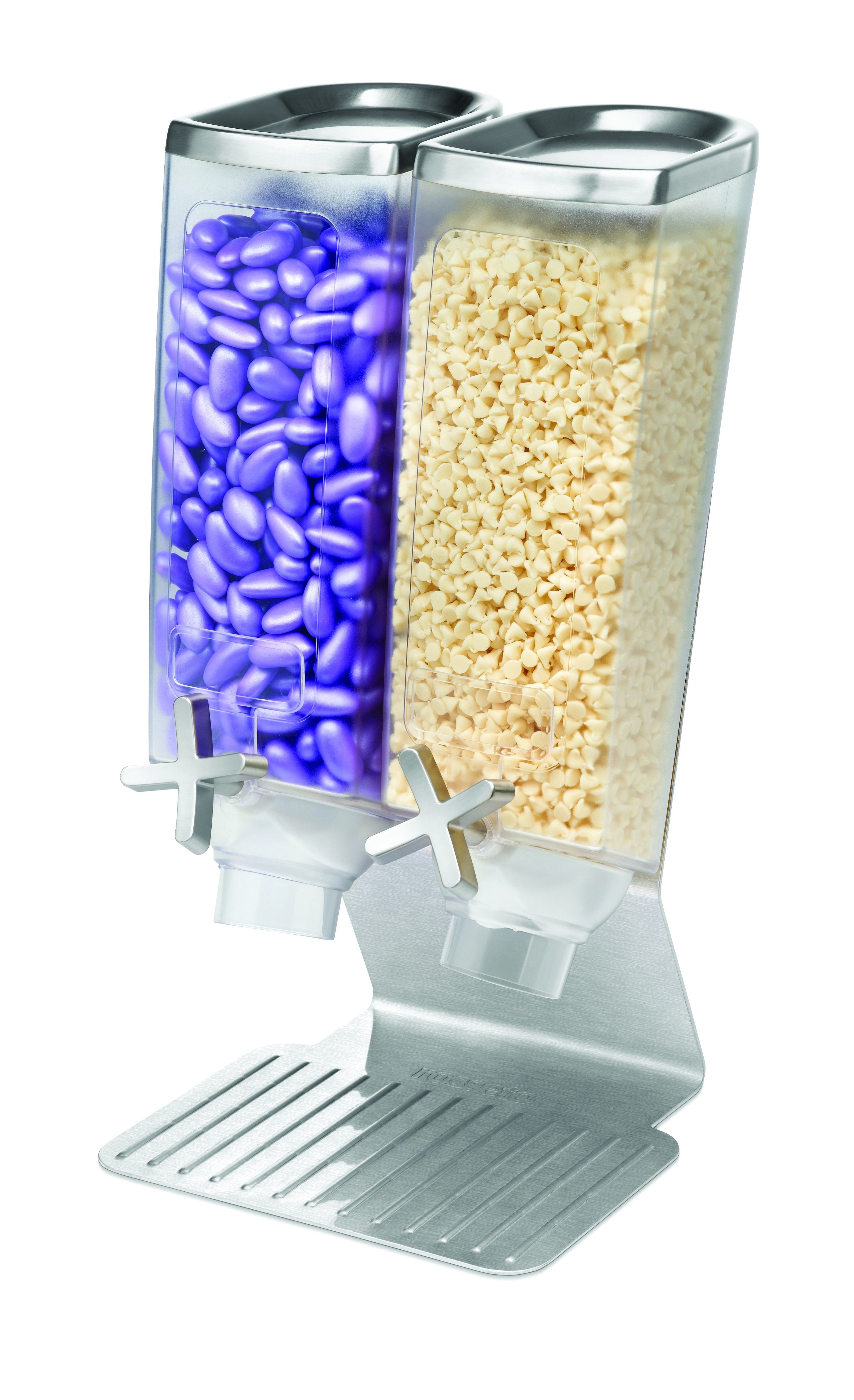 Rosseto EZ514 EZ-PRO™ Double-Container Table Top Dispenser With Stainless Steel Stand (1 Gallon Each)