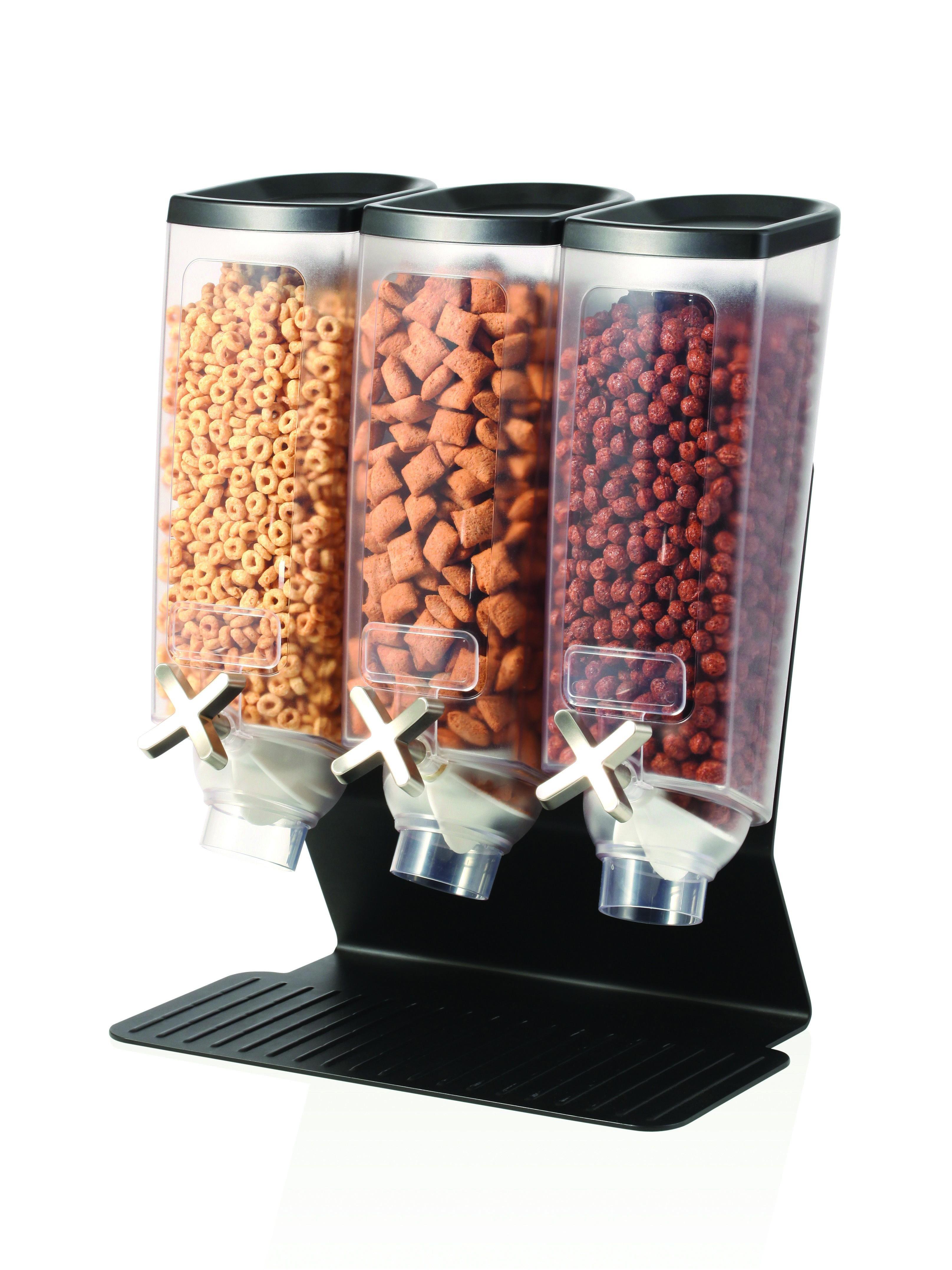 Rosseto EZ50399 EZ-PRO™ Triple-Container Table Top Dispenser With Black Steel Stand (1 Gallon Each)