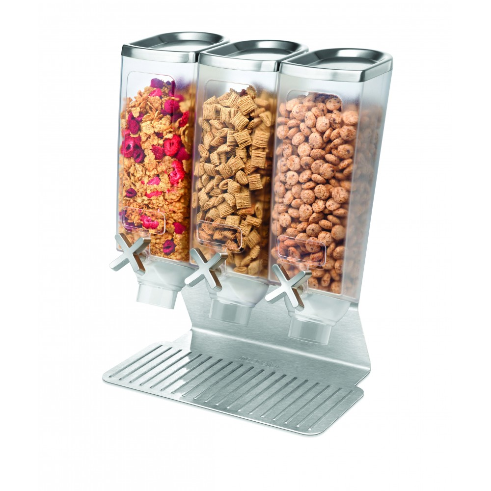 Triple 1  Dispensers w / Stainless steel Lid & Stand