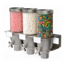 Rosseto EZ533 EZ-SERV Triple-Container Wall Mounted Dispenser (.65 Gallons Each)