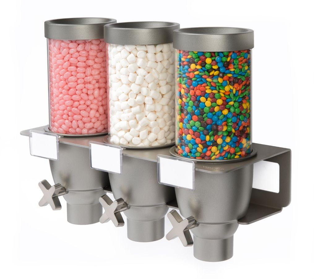 Triple .65  Wall Mounted food Dispenser