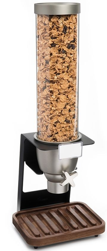 Rosseto EZ518 EZ-SERV Single Table Top Dispenser With Walnut Tray, 1.3 Gallon