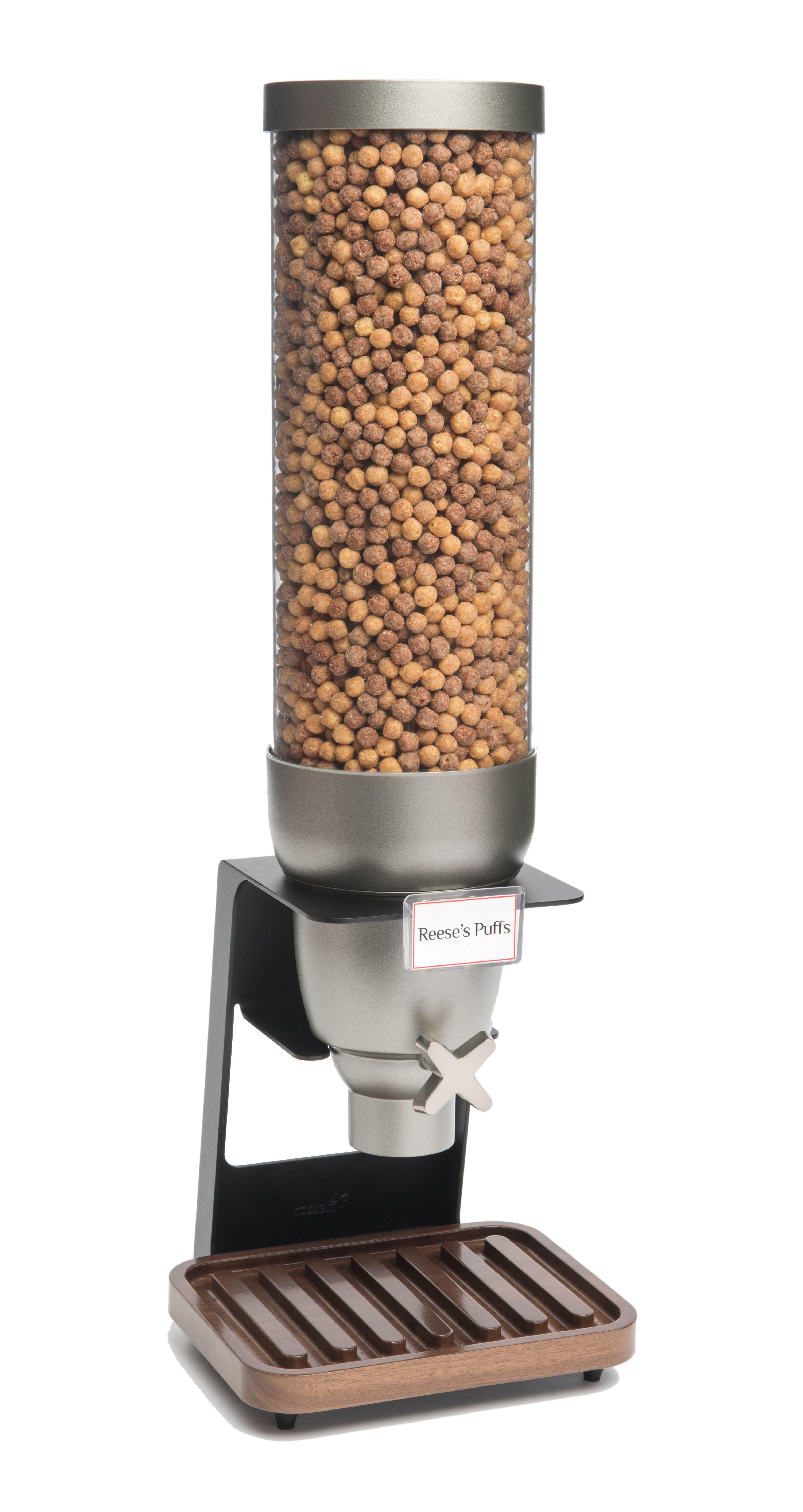 Rosseto EZ529 EZ-SERV Single Table Top Dispenser With Walnut Tray, 2 Gallon