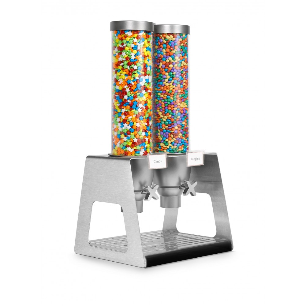 Rosseto EZ535 EZ-SERV Double Table Top Dispenser With Acrylic Catch Tray, (1.3 Gallons Each)