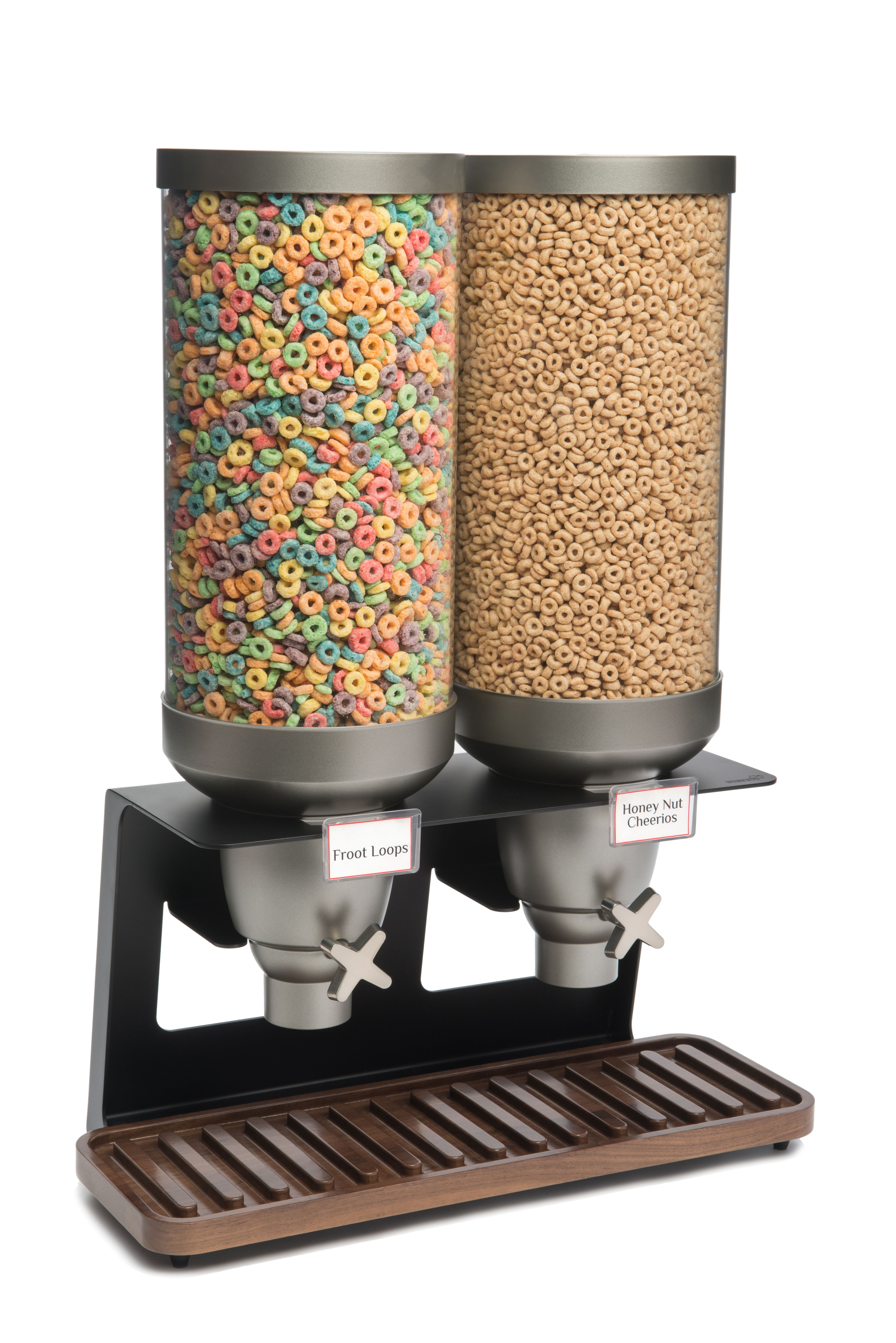 Rosseto EZ541 EZ-SERV Double Table Top Dispenser With Walnut Tray (3.5 Gallons Each)