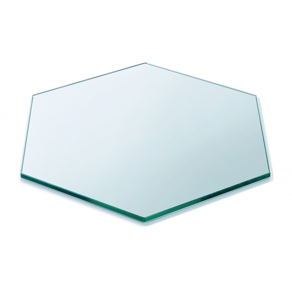 "Rosseto SG008 Honeycomb™ 16"" Medium Clear Tempered Glass Surface"