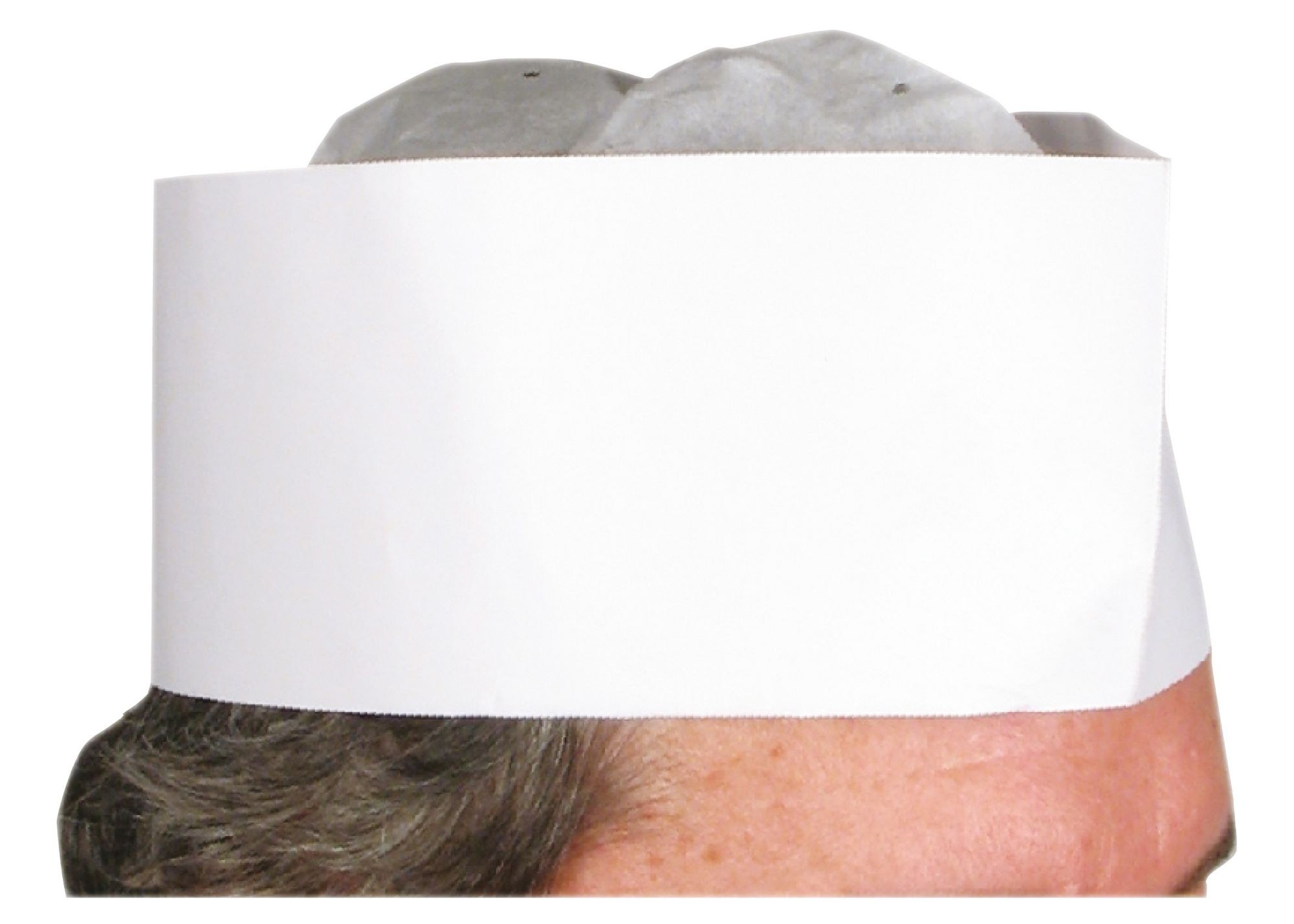 "Winco DCH-3 Disposable 3"" Chef Hat"