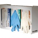 Disposable Glove Dispenser, Three-Box, 16-1/2w x 3-3/4d x 10h, Enamel, White