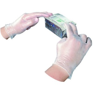 Disposable Vinyl Powdered Gloves, General Purpose, Large, 100/Box