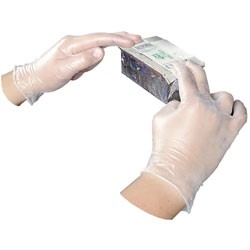Disposable Vinyl Powdered Gloves, General Purpose, Medium, 100/Box