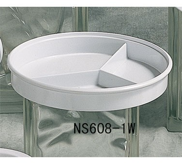 Thunder Group NS608-1W Nustone White Melamine Divided Server 8-1/4""
