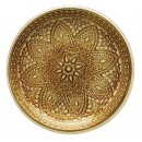 "Jay Companies 1900051 Divine Gold Glass Round 13"" Charger Plate"