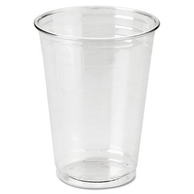 Dixie Clear Plastic PETE Cold Cups, 10 oz., WiseSize, 500/Carton