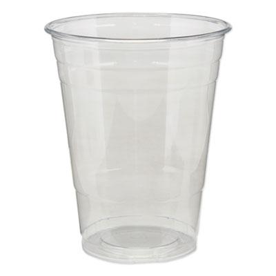 Dixie Clear Plastic PETE Cups, Cold, 16 oz., 500/Carton