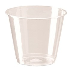 Dixie Foodservice Clear Cold Plastic Cups, 9 oz., Squat, 25/Bag (Box of 500)