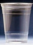 Dixie Foodservice Clear Cold Plastic Cups, 10 oz., WiseSize Pack, 25/Bag (Box of 500)