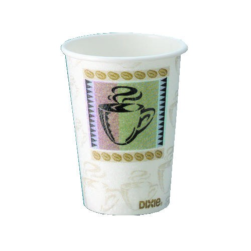 Dixie Foodservice DIXIE 12 Oz. Perfectouch Hot Cup with Polycoat (Box of 1000)
