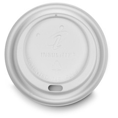 Dixie Foodservice Dome Hot Drink Lids, 8oz Cups, White (Box of 1000)