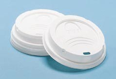Dixie Foodservice Drink-Thru Lid, Fits 8-oz. Hot Drink Cups, White (Box of 1000)