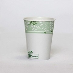 Dixie Foodservice EcoSmart Hot Paper Cup, Polylined, 8 oz., Viridian Design, 50/Bag (Box of 1000)