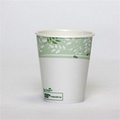 Dixie Foodservice EcoSmart Hot Paper Cup, Polylined, 10 oz., Viridian Design, 50/Bag (Box of 1000)