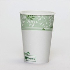 Dixie Foodservice EcoSmart Hot Paper Cup, Polylined, 16 oz., Viridian Design, 50/Bag (Box of 1000)
