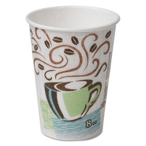 Dixie Foodservice PerfecTouch Hot Cups, 8 oz., Coffee Dreams Design, Individually Wrapped, 50/Bag (Box of 1000)