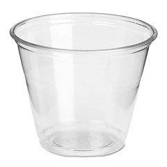 Dixie Foodservice Plastic Cups, 9 oz., Clear, Cold, Squat, 50/Bag (Box of 1000)