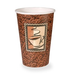 Dixie Foodservice Polycoated Paper Cup, Hot, 16 oz., Java Design, Brown, 50/Bag (Box of 1000)