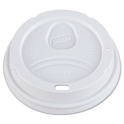 Dart Dome Drink-Thru Lids, Fits 10, 12, 16 oz Paper Hot Cups, 1000/Carton