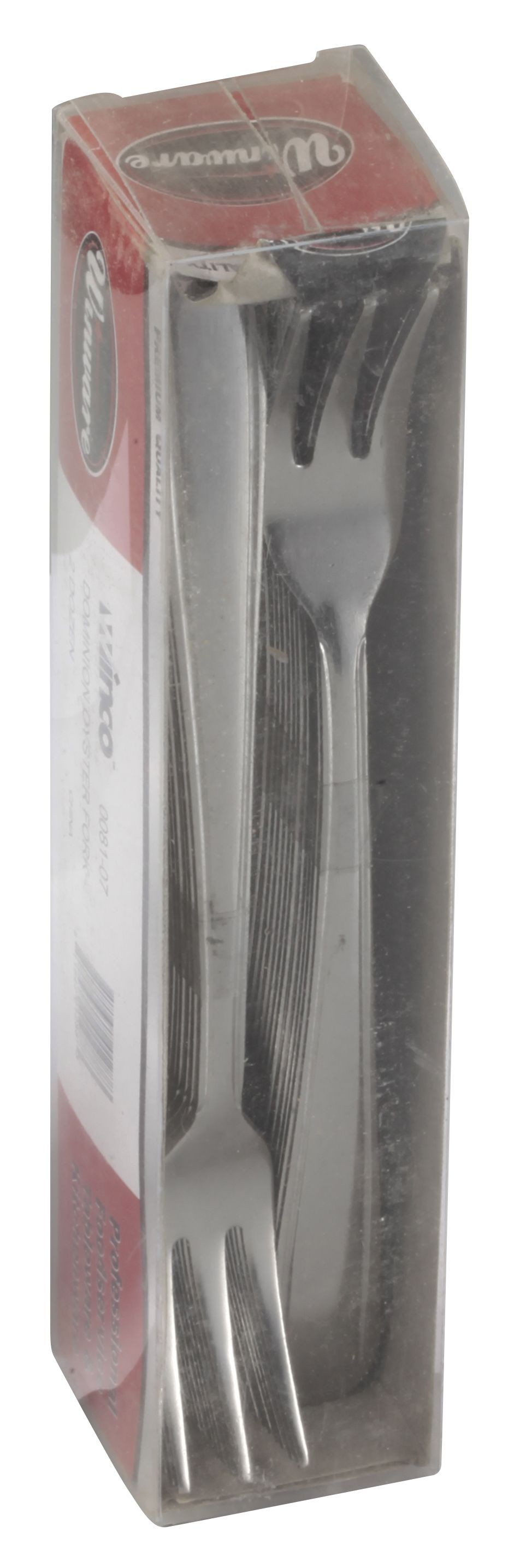 Winco 0081-07 Dominion Medium Weight 18/0 Oyster Fork In Clear View Pack (24/Pack)