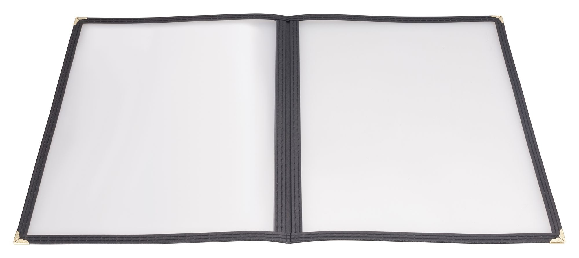 "Winco PMCD-14K Black Double Fold Menu Cover 8.5"" x 14"""