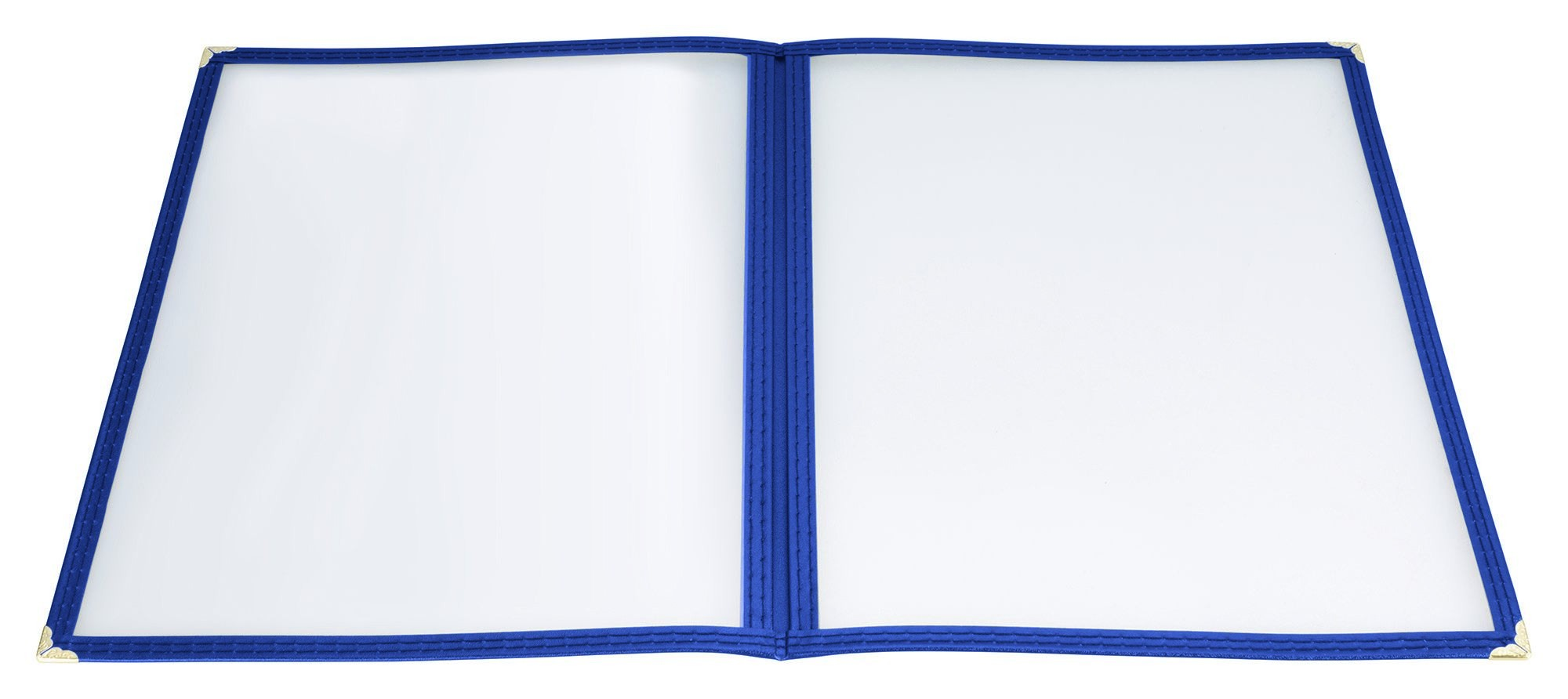 "Winco PMCD-9B Blue Double Fold Menu Cover 9-1/2"" x 12"""